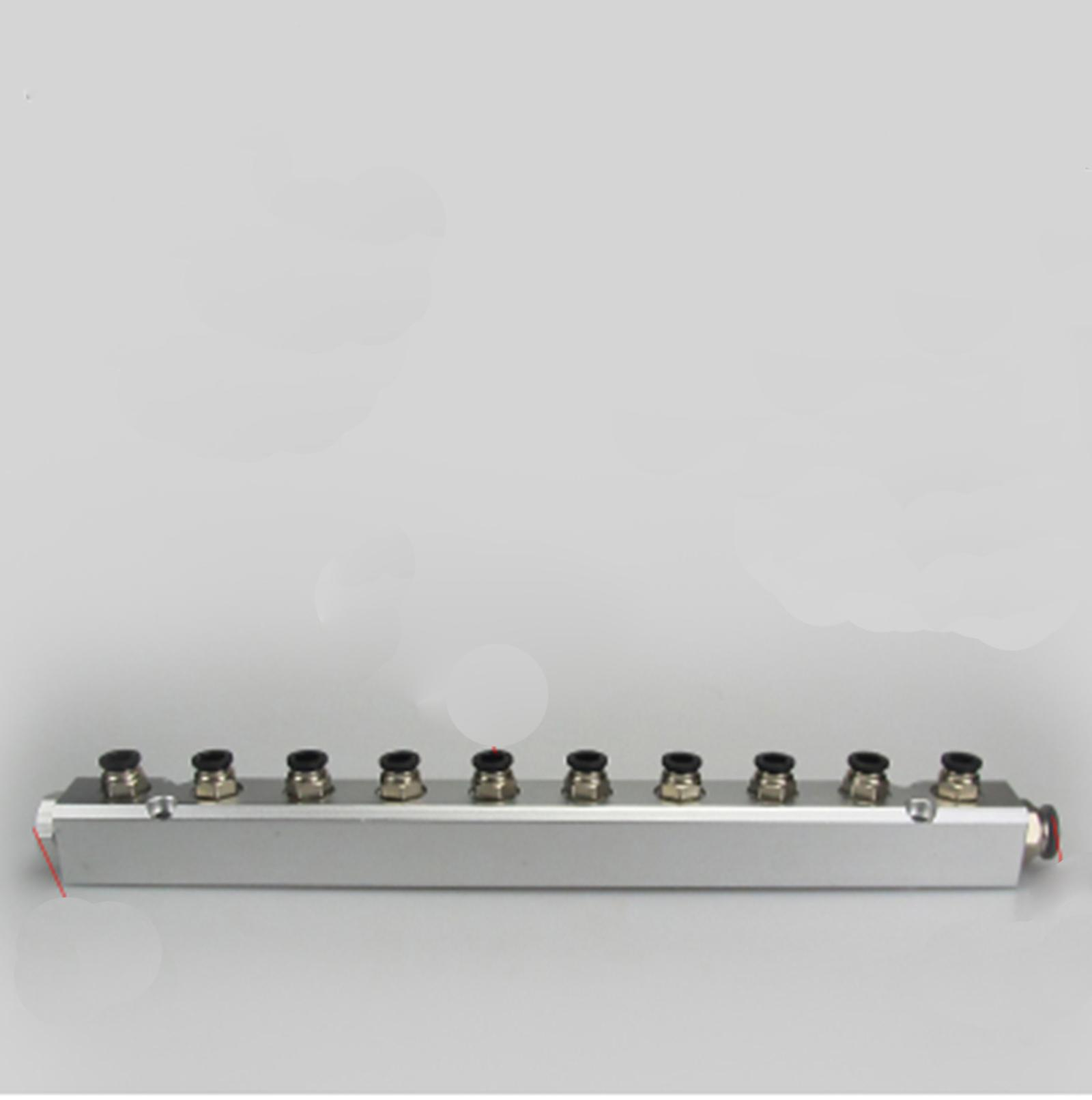 30x30mm G1/4 Out G1/2 In 10 Way Pneumatic Fitting Air Manifold Block Splitter30x30mm G1/4 Out G1/2 In 10 Way Pneumatic Fitting Air Manifold Block Splitter