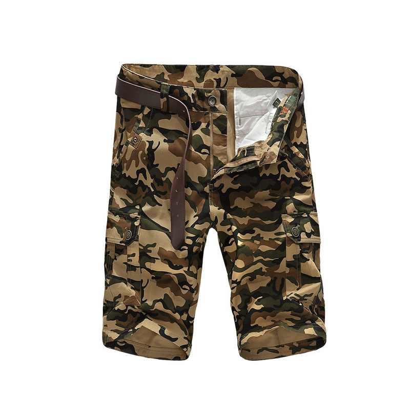 New male Loose Tactical Five short pants Masculino Camouflage Cargo Military Shorts Men Cotton Shorts Men Army camo Short Pants