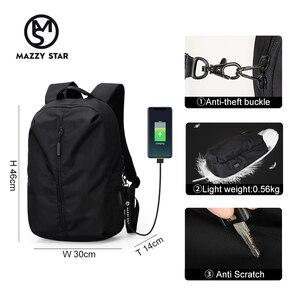 Image 3 - جديد وصول USB شحن محمول على ظهره 15.6 بوصة الرجال الحقائب المدرسية للمراهقين كلية حقيبة السفر الذكور Mochilas M808