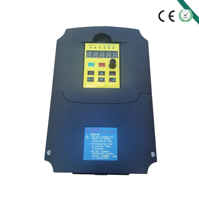 CE Approved 2.2KW 380V 6A Spindle inverters Vector Control Frequency Converter 3HP Input