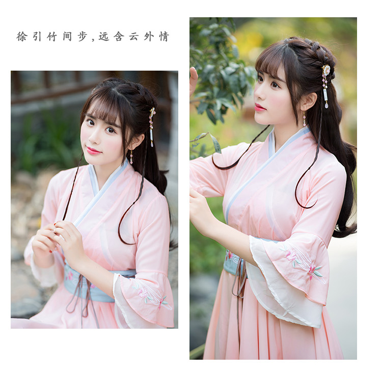 2019 The ancient Chinese hanfu national costume for Cosplay clothing Women hanfu antique dress Brought the big pendulum skirt