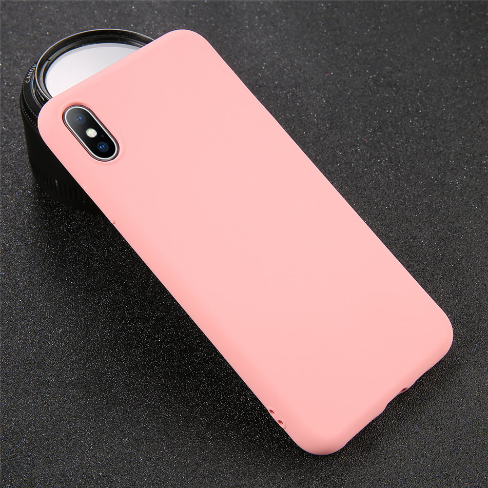 HTB1.A8HXUCF3KVjSZJnq6znHFXaV - USLION Silicone Solid Color Case for iPhone SE 2020 11 Pro MAX XR X XS Max Candy Phone Cases for iPhone 7 6 6S 8 Plus Soft Cover