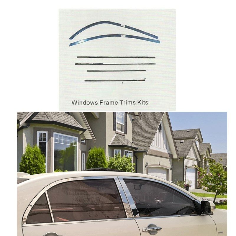 for toyota COROLLA 2007-2011 WINDOWS FRAME TRIMS KIT ABS car styling exterior accessories kadore toyota 2011 5dr abs