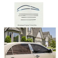 for toyota COROLLA 2007 2011 WINDOWS FRAME TRIMS KIT ABS car styling exterior accessories