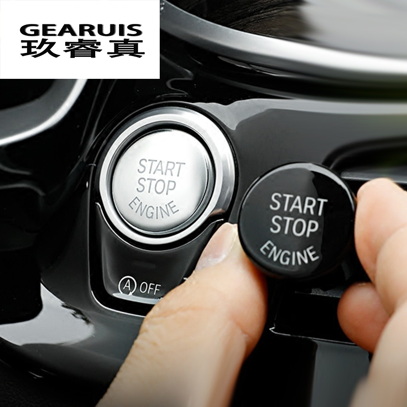 Auto styling Für BMW F Chassis F20 F30 F34 F10 F48 F52 F15 F16 F25 F26 start stop motor Eine taste zum starten motor start-taste abdeckung