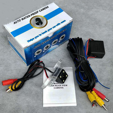 For Toyota Land Cruiser Prado (Spare Wheel On Door) / RCA Wire LED HD Wide Lens Angle CCD Night Vision Rear View Camera