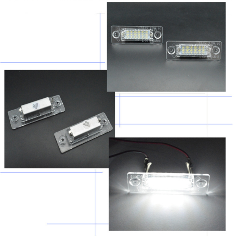 1 pair Nuovo 18 LED License Luce Targa Lampada for VW T5 Caddy Golf Passat Touran Jetta Skoda Super White 12 V in Signal Lamp from Automobiles Motorcycles