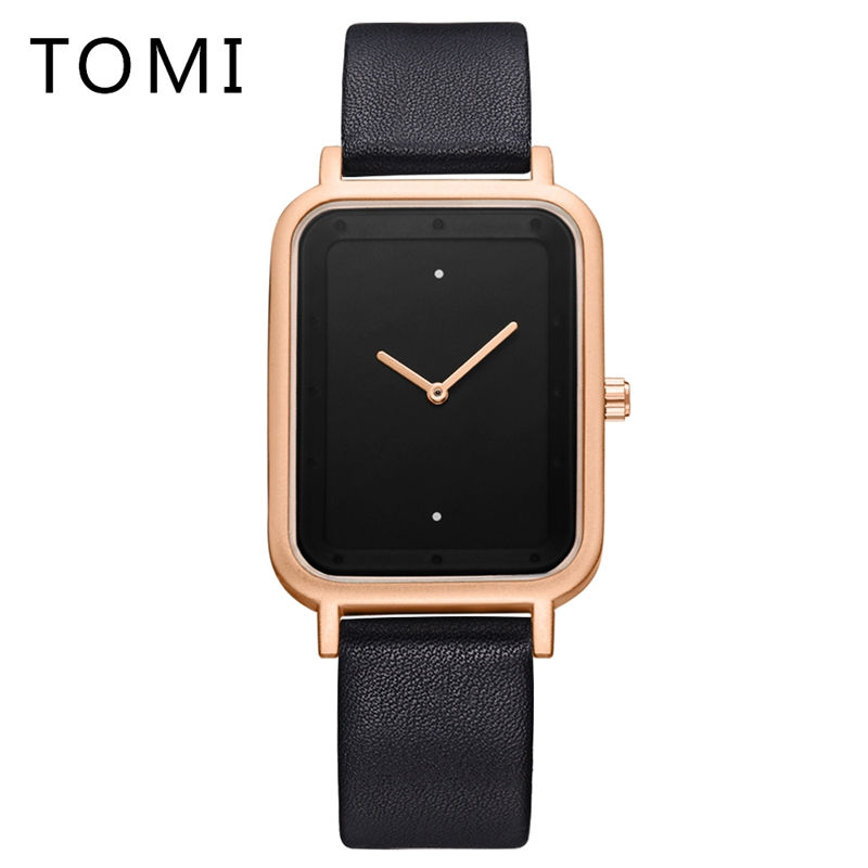 Tomi Mens Watches Top Brand Luxury Business Quartz-Watch 2018 Leather Strap Men Waterproof Wristwatch Relogio Masculino T016