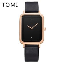 цена на Tomi Mens Watches Top Brand Luxury Business Quartz-Watch 2018 Leather Strap Men Waterproof Wristwatch Relogio Masculino T016