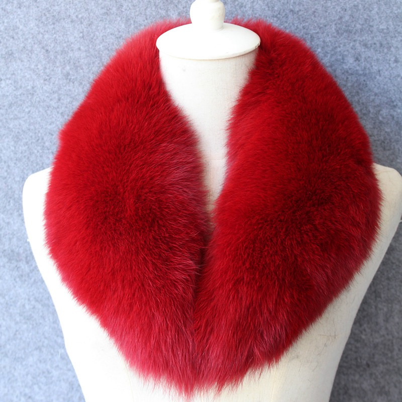 Luxury Real Fox Fur Collar Winter Women Fur Neck Ring Garment Accessory Lady Neckwarmer Pashmina Shawl Wraps LF5036