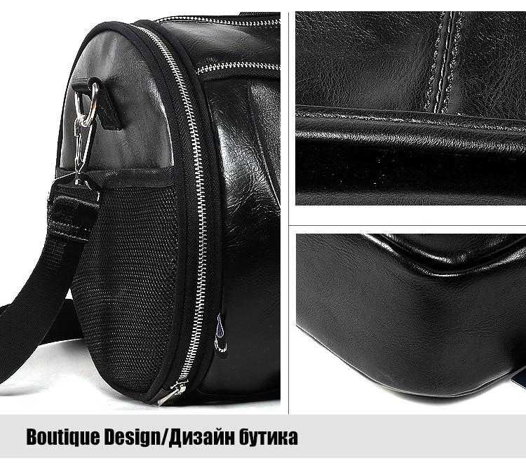 Top PU Outdoor Sports Gym Bag Men Women with Shoes Storage Training Fitness Multifunction Shoulder Bags Travel Yoga HandBag