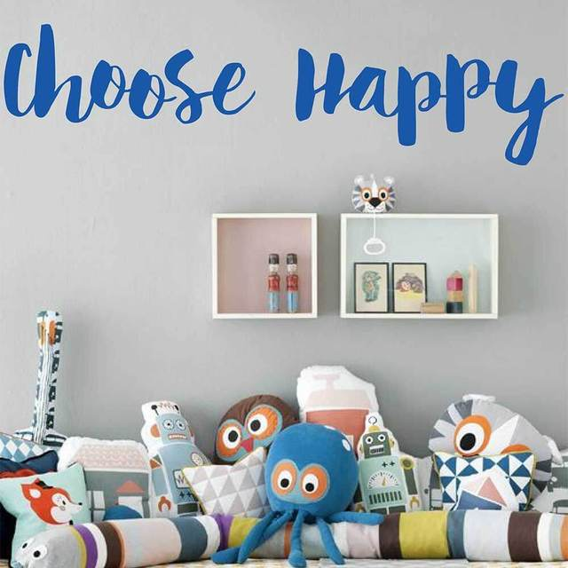Choose Happy Inspirational Quote Decal Choose Happy Motivational