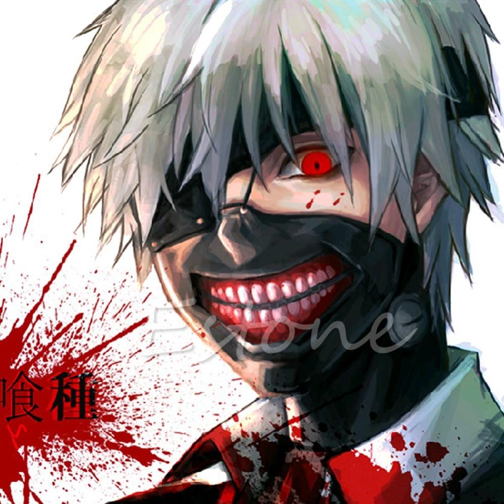 1PC Cool Cosplay Tokyo Ghoul Kaneki Ken Halloween Party Adjustable ...