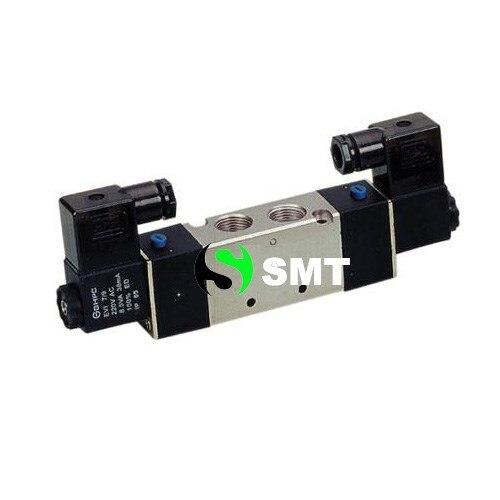 5pcs/lots free shipping High Quality 1/4'' 4V230P 08 AC220V 3 Position 5 Way Air Solenoid Valve DC12V,DC24V or AC110V