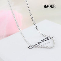 Promotion S925 Sterling Silver Necklace O type Long Sweater Chain Fashion Jewelry for Women's Fashion Gifts