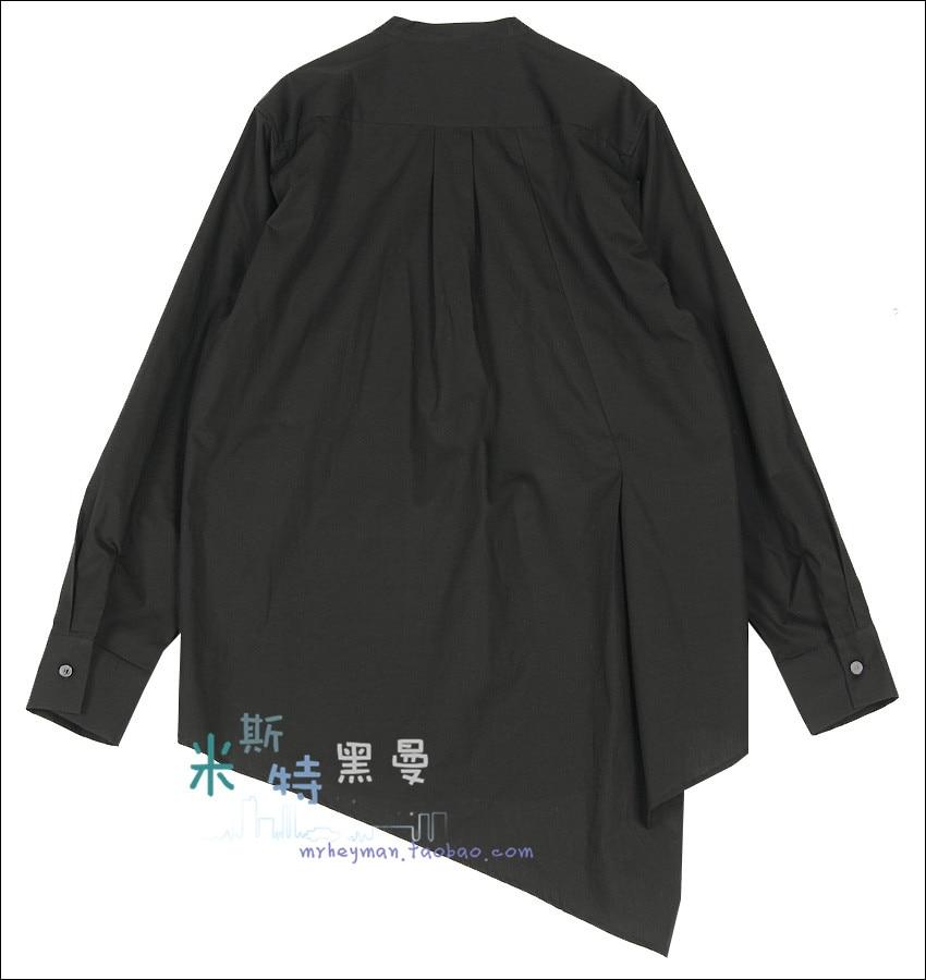 Hommes Mode Asymétrique Décontractée S De Taille 5xl 2018 Chemise Long Styliste Lâche Vêtements Devant Cheveux Noir Costumes Nouveau Plus Court blanc Dos La 6awt8qw