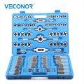 110 piezas de juego de Tap y troquel de roscado para herramientas de reparación de aleación de acero para Extractor de tornillos de metal