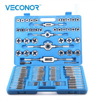 110PCS Tap and Die Set Tapping Threading Chasing Repair Tools Alloy Steel For Metalworking Screw Extracter Remover