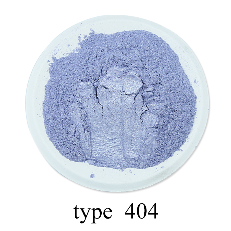 Type 404 Light Purple Mineral Mica Powder 50g Pigment for Dye Colorant Soap Automotive Art Crafts DIY Pearl Powder Acrylic Paint