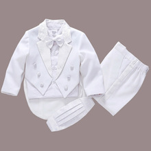 2017 new arrival white baby boys suit kids blazers boy