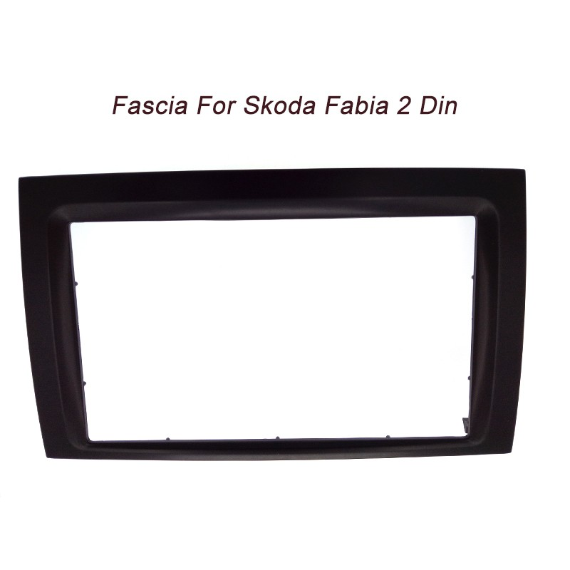 2DIN in Dash Car Radio Fascia for 2003 2004 2005 <font><b>2006</b></font> <font><b>Skoda</b></font> <font><b>Fabia</b></font> Universal Stereo DVD Player Frame image