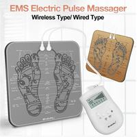 EMS Massage Mat Electric Physiotherapy Relax Vibration Foot Kneading Shiatsu 6 Kinds of Simulated Massage Techniques 310x310mm