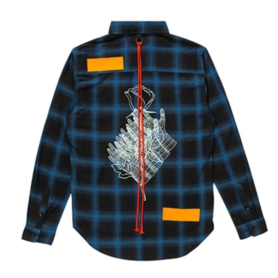 Palid hip hop Chemise Hommes décontracté Oversize Vintage Vérifier chemise pour homme Butin Coréen De Mode Impression à manches longues Chemises Hommes Vêtements