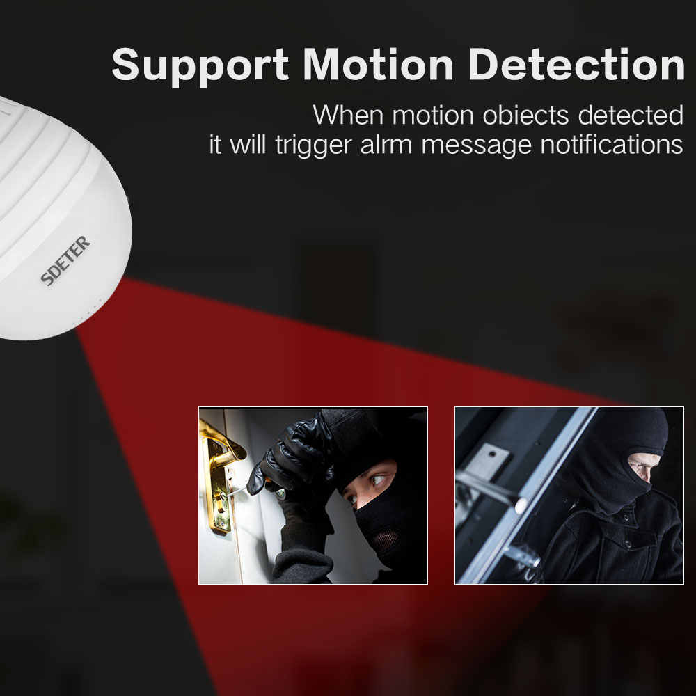 1080P 360 Grad Wireless IP Kamera Fisheye Panorama Überwachung Sicherheit Kamera Wifi nachtsicht Birne Lampe CCTV RU Lager