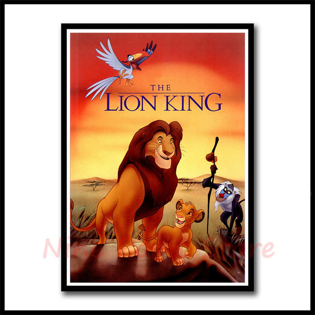 The Lion King Animal Cartoon Hd Movie Coated Paper Poster Core Printed Draw Wallpaper Hanging Picture No Frame Frameless Wall Stickers Aliexpress