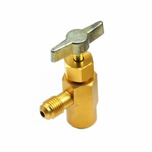Newest 1PC R-134a Refrigerant Can Bottle Tap Opener Valve 1/4SAE Thread Adapter M14 Drop Ship