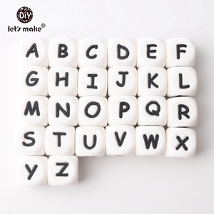 Image 3 - 100pc Silicone Alphabet Letter Beads Food Grade Silicone Chewing Beads Teething 26 Letters Silicone Letter Bead Baby Teether