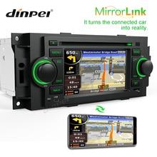 цена на Dinpei 5 Car DVD Player For Chrysler 300C PT Cruiser Dodge Ram Jeep Grand Cherokee Radio GPS Navigation car Multimedia player