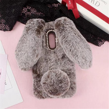 Real Rabbit Hair Fluffy Case For Xiaomi Redmi 5 Plus Cover For Redmi Note 4 4X 6