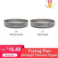 Extérieur ultraléger titane Frypan Camping randonnée pique-nique cuisson poêle titane Pan ustensiles randonnée pique-nique cuisine pique-nique