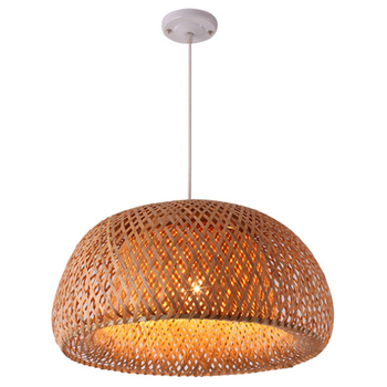 Modern Bamboo Work Hand Knitted Bamboo Weaving Chandelier Restaurant Handmade free shipping modern bamboo work hand knitted bamboo pendant lamp good price pendant lamp with bamboo shades for dinning room