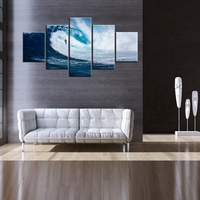 Exciting Surfing Sport Poster Seascape Oil Painting On Canvas Best Gifts For Fans Home Living Room