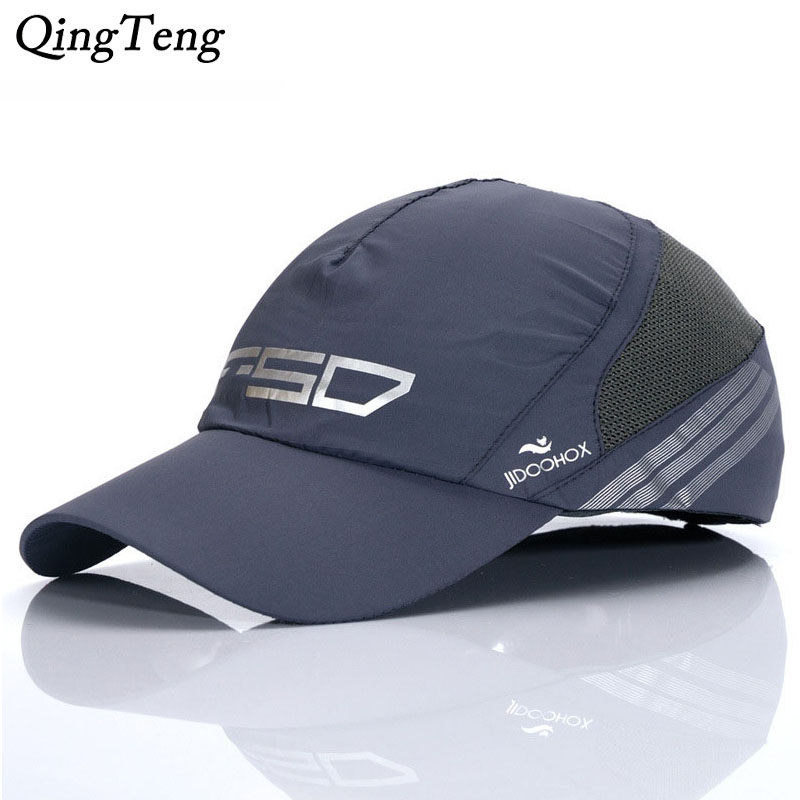 Summer Breathable Mesh Baseball Caps Thin Mercerized Cotton Wicking Hat Cool Mens Baseball Caps Brand Casual Women Fitted Hats