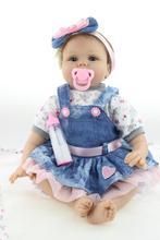 NPKCOLLECTION 22 Pouce 55 cm Reborn Baby Doll Réaliste Nouveau-Né Princesse Fille Bébés Réel À La Recherche En Vie Boneca Enfants Cadeau D'anniversaire