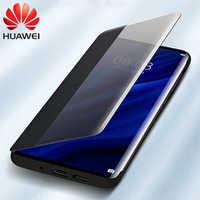 Original Huawei P30 Pro Abdeckung Fall Huawei P20 flip Fall PU Leder Offiziellen fall Huawei P20 Pro Smart View touch flip telefon fall