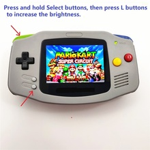 Professionalmente rinnovato Per Game Boy Per GBA Console Con iPS Retroilluminazione LCD Retroilluminato Mod Console Grigio