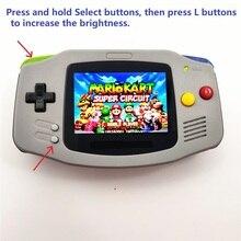 Professionell renoviert Für Game Boy Für GBA Konsole Mit iPS Hintergrundbeleuchtung LCD Mod Konsole Grau