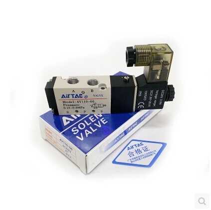 цены 4V110-06  two five-way solenoid valve pneumatic control Voltage: 110V AC ,220V AC ,380V AC ,24V AC ,12V DC ,24V DC .