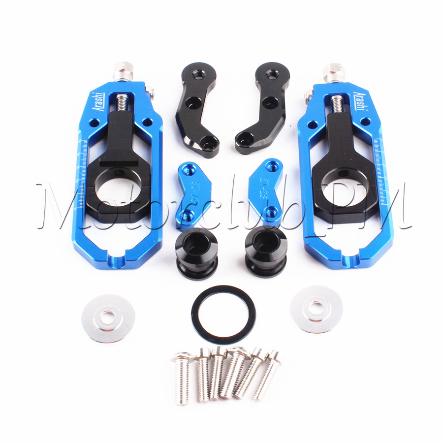 Motorcycle Blue Chain Adjuster Tensioner with Spool For Yamaha YZF R1 2004 2005 High-Quality Aluminum right 2 8t 2 7t v6 cylinder 1 3 camshaft adjuster timing chain tensioner for vw passat b5 superb a4 a6 a8 078109088c