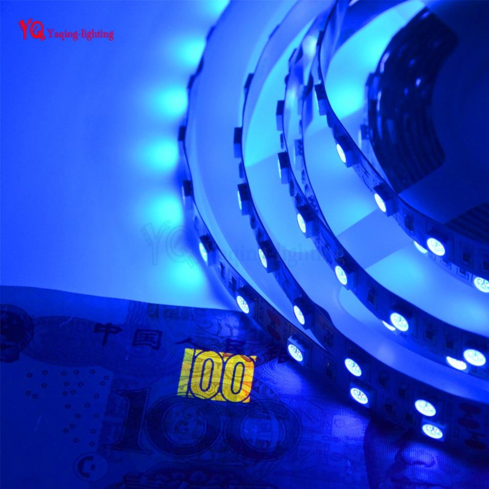 5m uv black light led strip 5050 3528 smd 60led m 120led m ip20 nonwaterproof ultraviolet purple. Black Bedroom Furniture Sets. Home Design Ideas