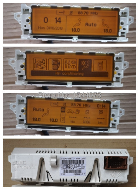Car White Color Shell Monitor display USB Bluetooth Air Conditioning Yellow 12 pin Screen 5 Menu For Peugeot 407 408 307
