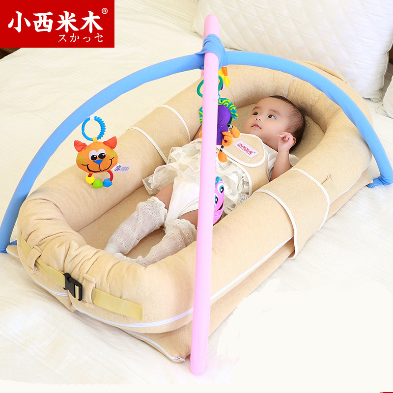 Small Sago Wood Crib Multifunctional Bed Bb Bionic Newborn Baby For Children