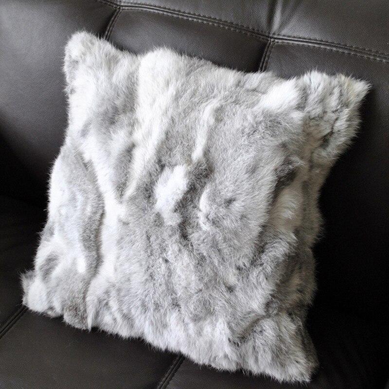 Big Comfortable Throw Pillows : Soft Sofa Throw Pillows Cover Comfortable High Quality Rabbit Faux Fur Vintage Cushion Cover ...