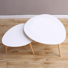 2 pieces for a lot Living Room Furniture Modern Design Birch Wood Triangle White Coffee Tables