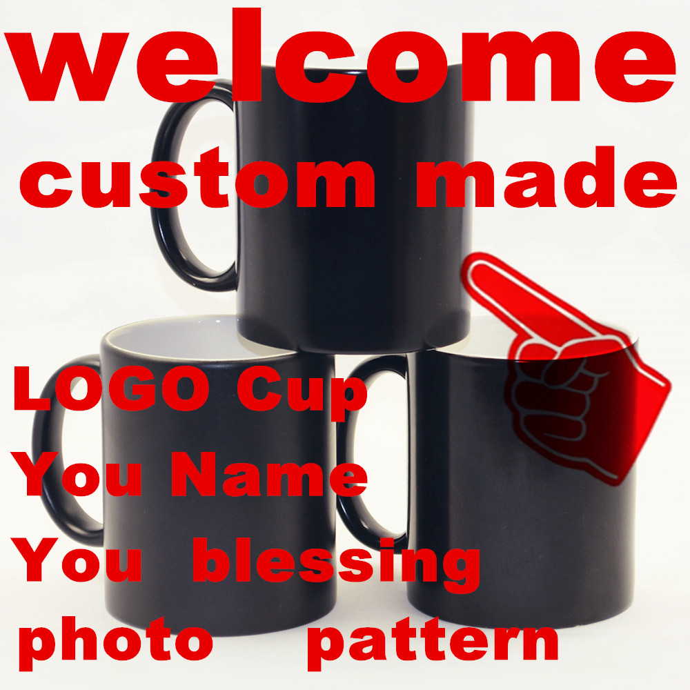 Online color invert picture - You Name Blessing Photo Christmas Gift Custom Made Mugs Color Changing Cups Magic Heat Sensitive Coffee Mug Tea Ceramic Logo Cup
