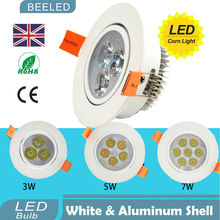Free shipping 6pcs / lot 3W 5W 7W led Ceiling Light spotlight AC110V 220V  dimmer lamp LED downlights  LED ceiling lamp Dimmable